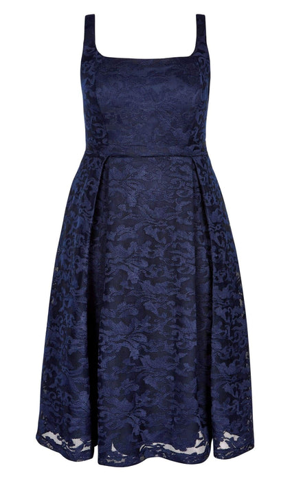 City Chic Jackie O Dress - Navy