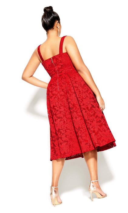 City Chic Jackie O Dress - red