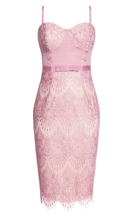 City Chic Jolie Lace Dress - Musk