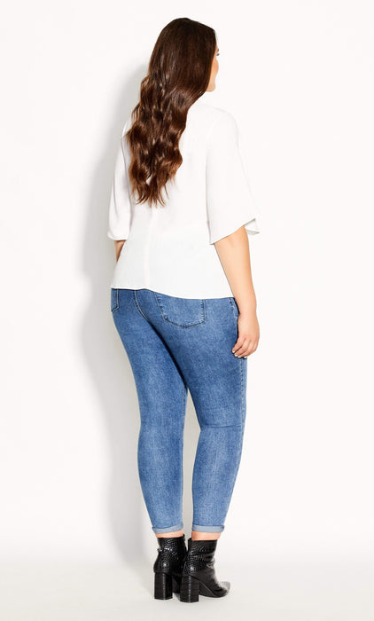 CITY CHIC Knot Me Up Top - ivory