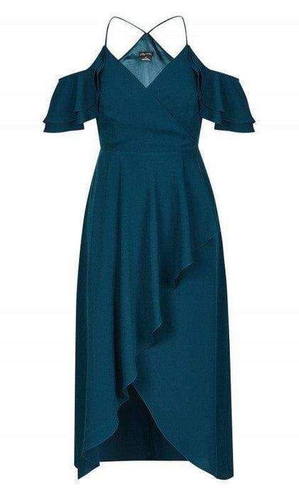 City Chic Miss Jessica Maxi Dress - Emerald