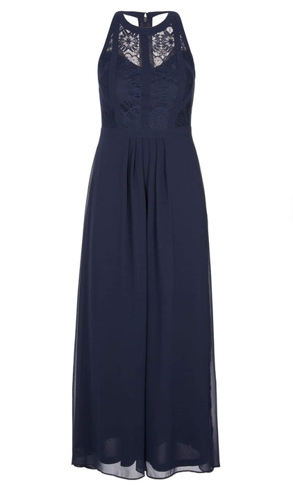 City Chic Panelled Bodice Maxi Dress - Navy