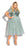 City Chic Sparkle Joy Dress - topaz