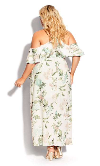 City Chic Tender Floral Maxi Dress - ivory