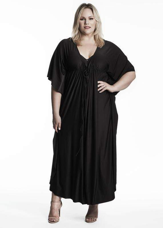 Coldesina Kaftan Dress In Black