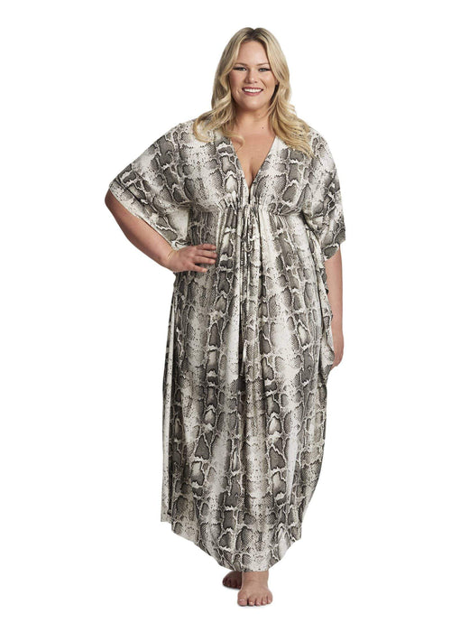 Coldesina Kaftan In White Python