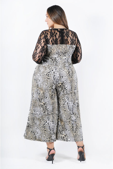 Coldesina Lana Jumpsuit with 3/4 Lace Sleeve