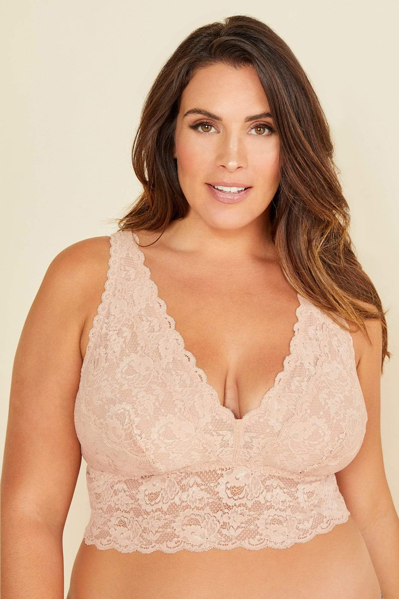 cosabella never say never extended plungie bralette in sette size 1x