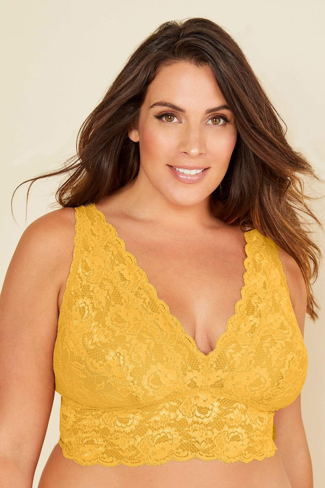 cosabella never say never extended plungie bralette in sole size 1x