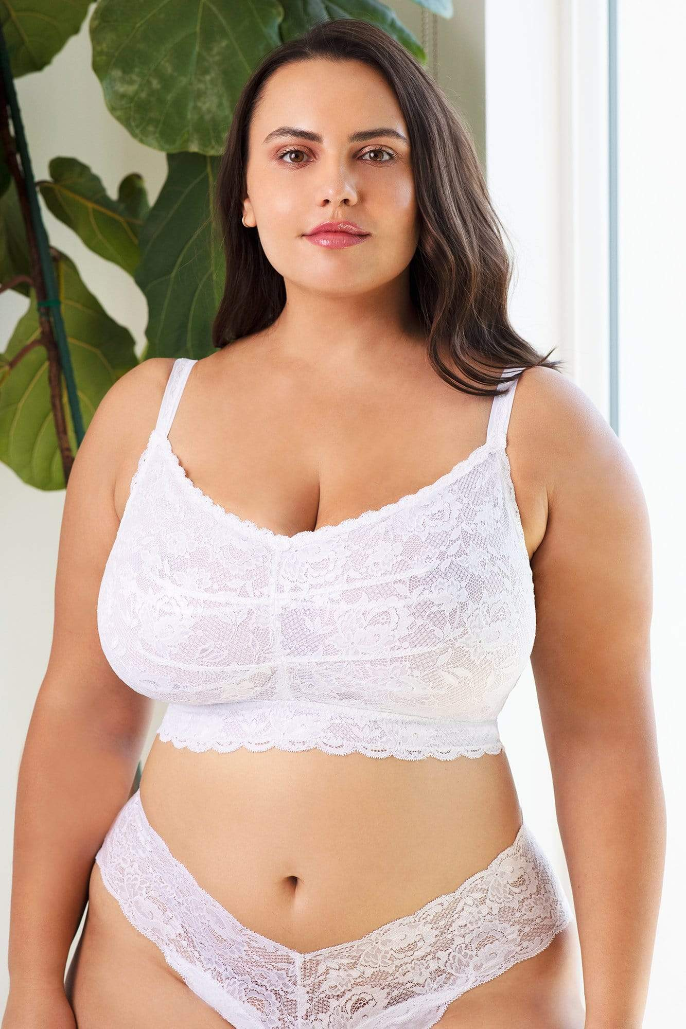 cosabella never say never ultra curvy sweetie bralette in white size small