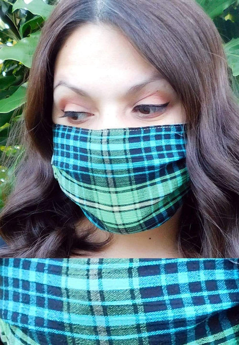 DND Green Plaid Mask Green_Plaid / onesize
