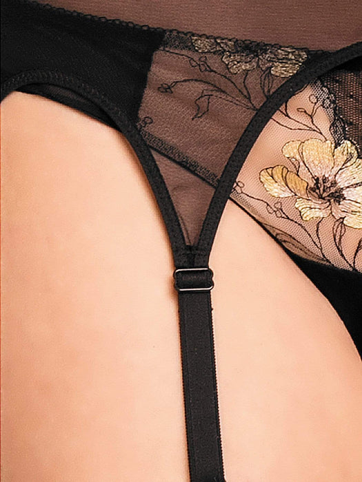 Glamory Hosiery Power Mesh Garter Belt