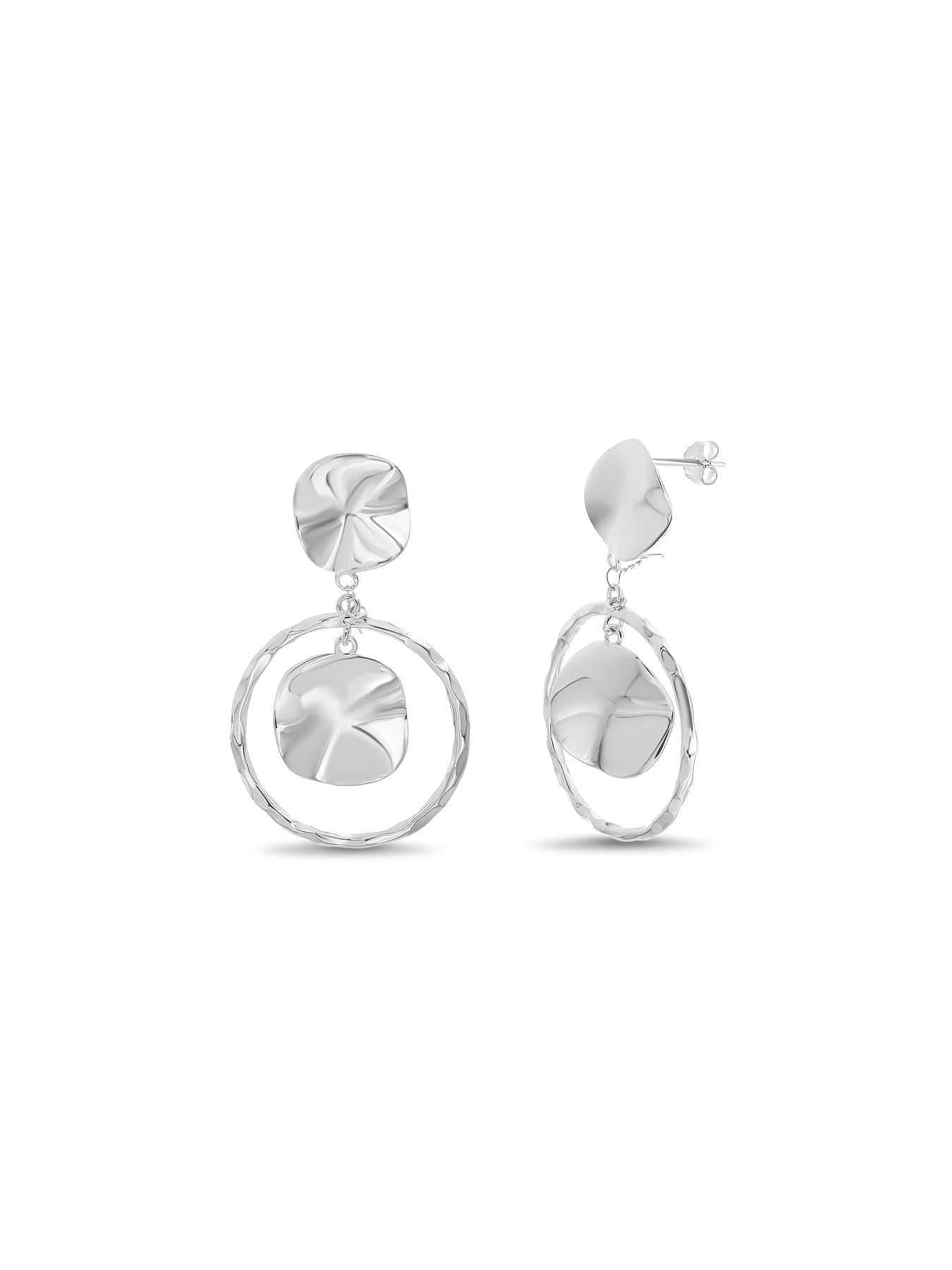 Inspired By You Sterling Silver Circle Drop Earrings