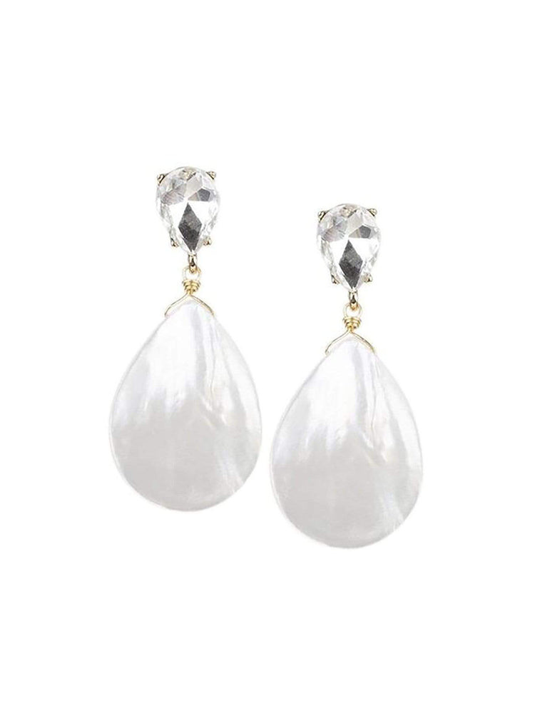 Jardin Jewelry Mother of Pearl Pear Drop Earrings