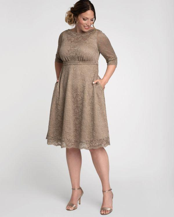 Kiyonna Lacey Cocktail Dress In Champagne