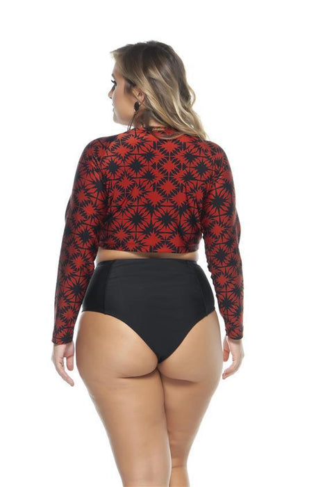 Lehona LONG SLEEVE CROP TOP