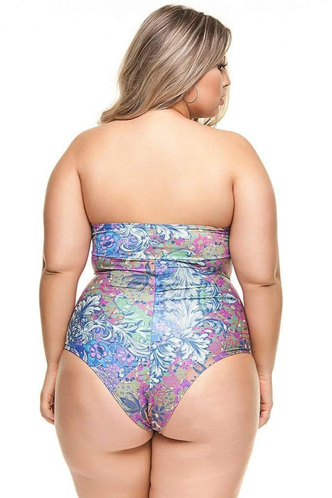 Lehona ORIENTAL GARDEN STRAPLESS SWIMSUIT WITH NEW PADDED CUP