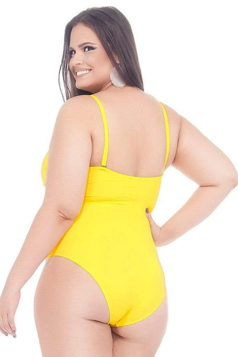 Lehona SUNFLOWER DRAPED SWIMSUIT WITH PADDED AND WIRED CUPS