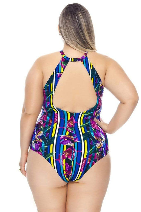 Lehona SWIMSUIT WITH CHOKER AND PADDED CUPS