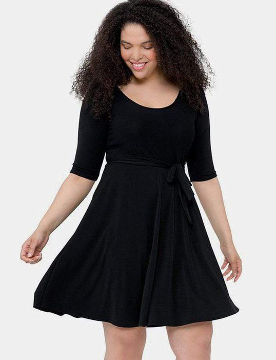 Leota Ilana Dress in Black Crepe