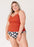 Lime Ricki Rust Wrap Tankini / Pre-order only