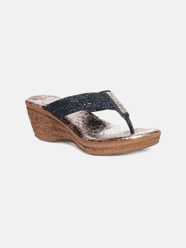 Love & Liberty MIAMI NIGHT Wedge 6 / Black