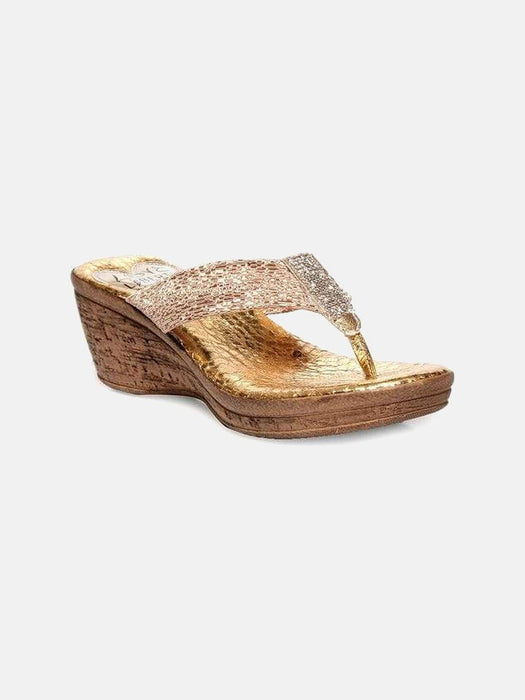 Love & Liberty MIAMI NIGHT Wedge 6 / Gold