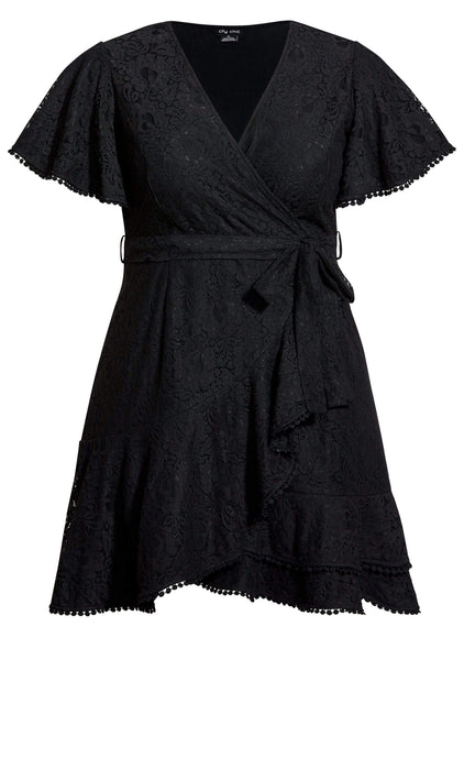 magento2-city-chic Sweet Love Lace Dress - black