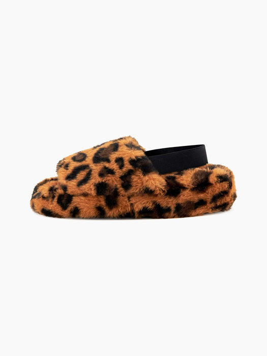 Nest Shoes LISBON Faux Fur Slipper in Leopard
