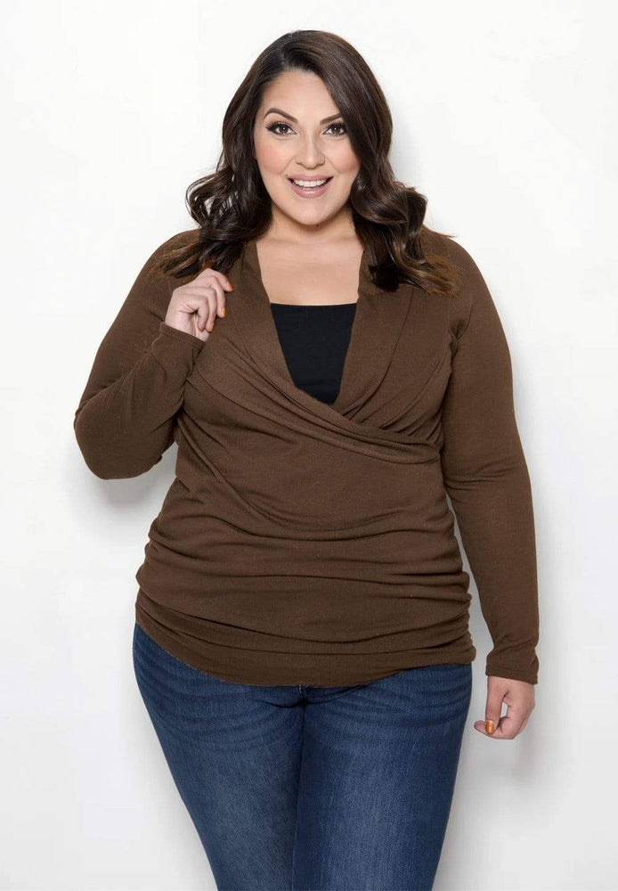 Sealed With A Kiss Faye Top in Mocha