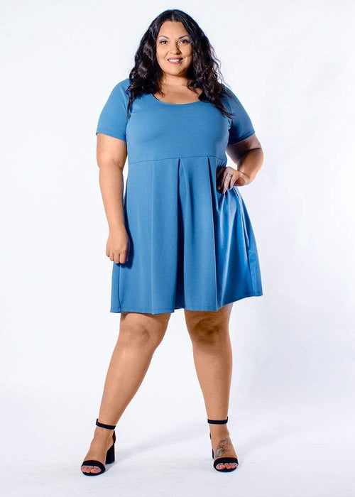 Sealed With A Kiss Joyce Dress in Dusty Blue