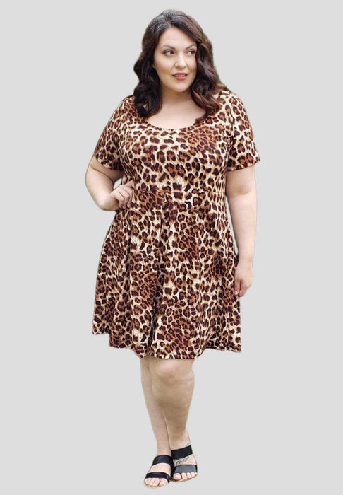 Sealed With A Kiss Joyce Dress in Leopard