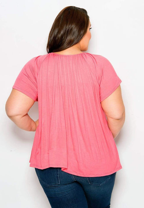 Sealed With A Kiss Pretty Flutter Top - Coral