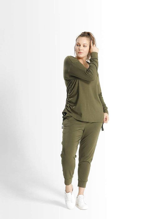 Shegul Kathy Top in Army Green