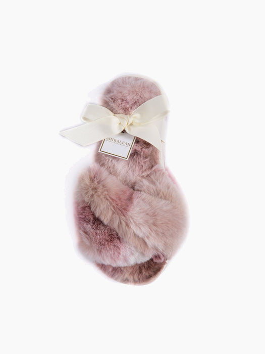 Stowe Tie Dye Slippers in Blush