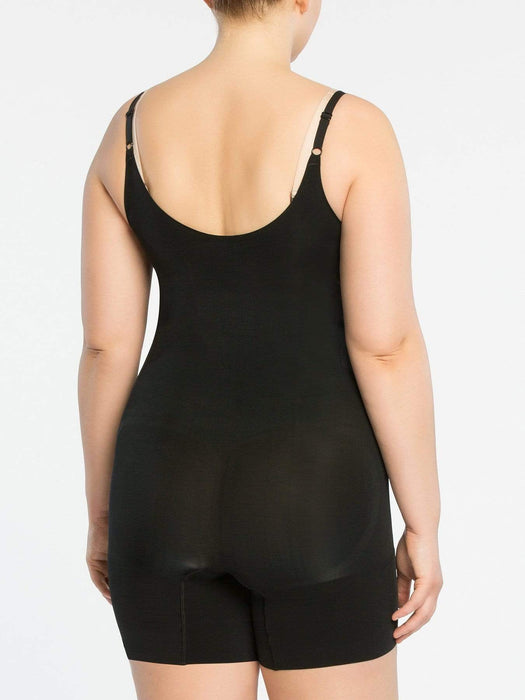 Spanx Oncore Open Bust Midthigh Bodysuit - Very Black