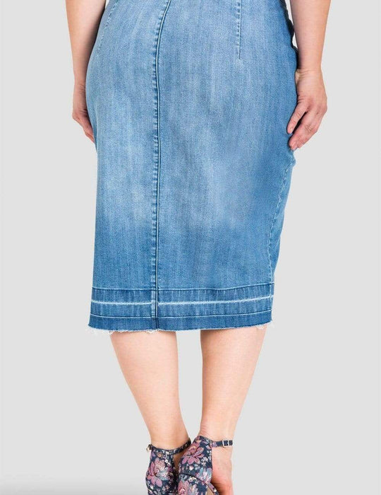 Standards & Practices Harley Denim Pencil Skirt