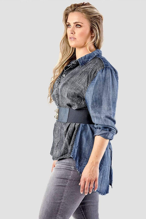 Standards & Practices Kristine Two-Toned Shirt