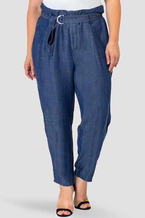 Standards & Practices Marina Blue Paperbag-Waist Pants