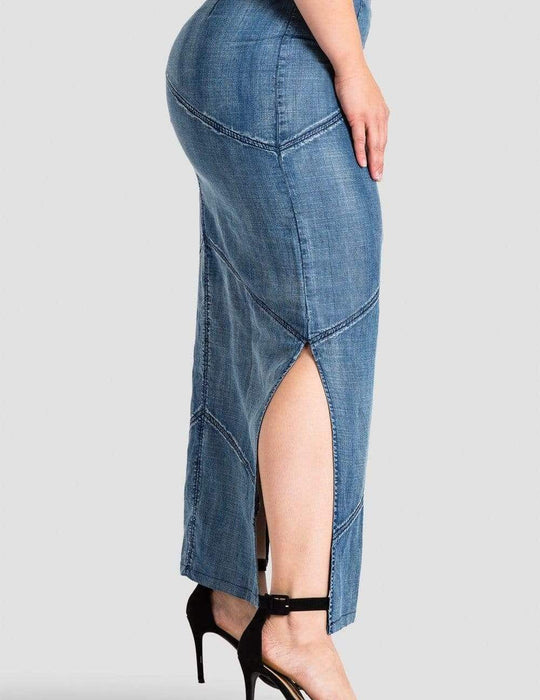 Standards & Practices Paulina Denim Maxi Skirt