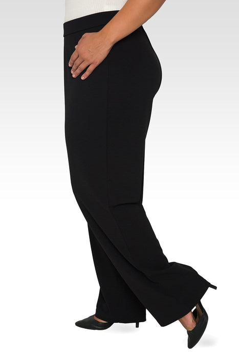 Standards & Practices Plus Size Mona High Waist Stretch Crepe Pants - Black
