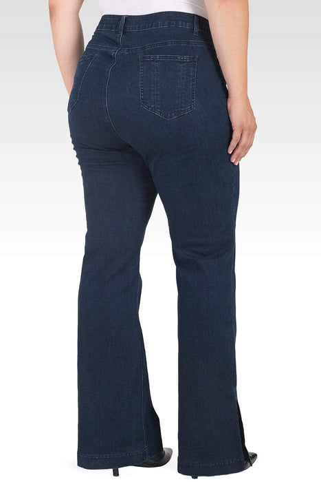 Standards & Practices Rania Plus Size Light Weight Denim HR Slit Hem Jeans