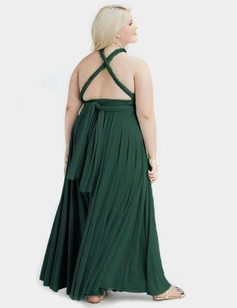 Two Birds Forest Green Convertible Ballgown