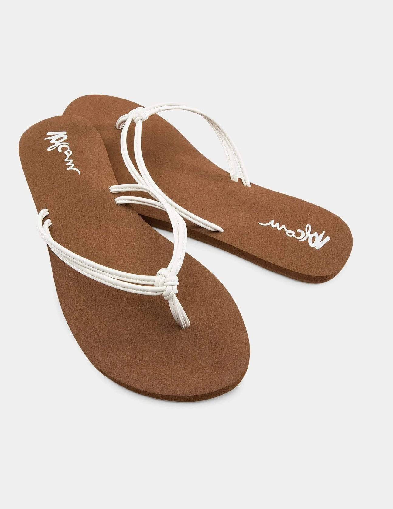 volcom forever and ever ii sandals in white size 7