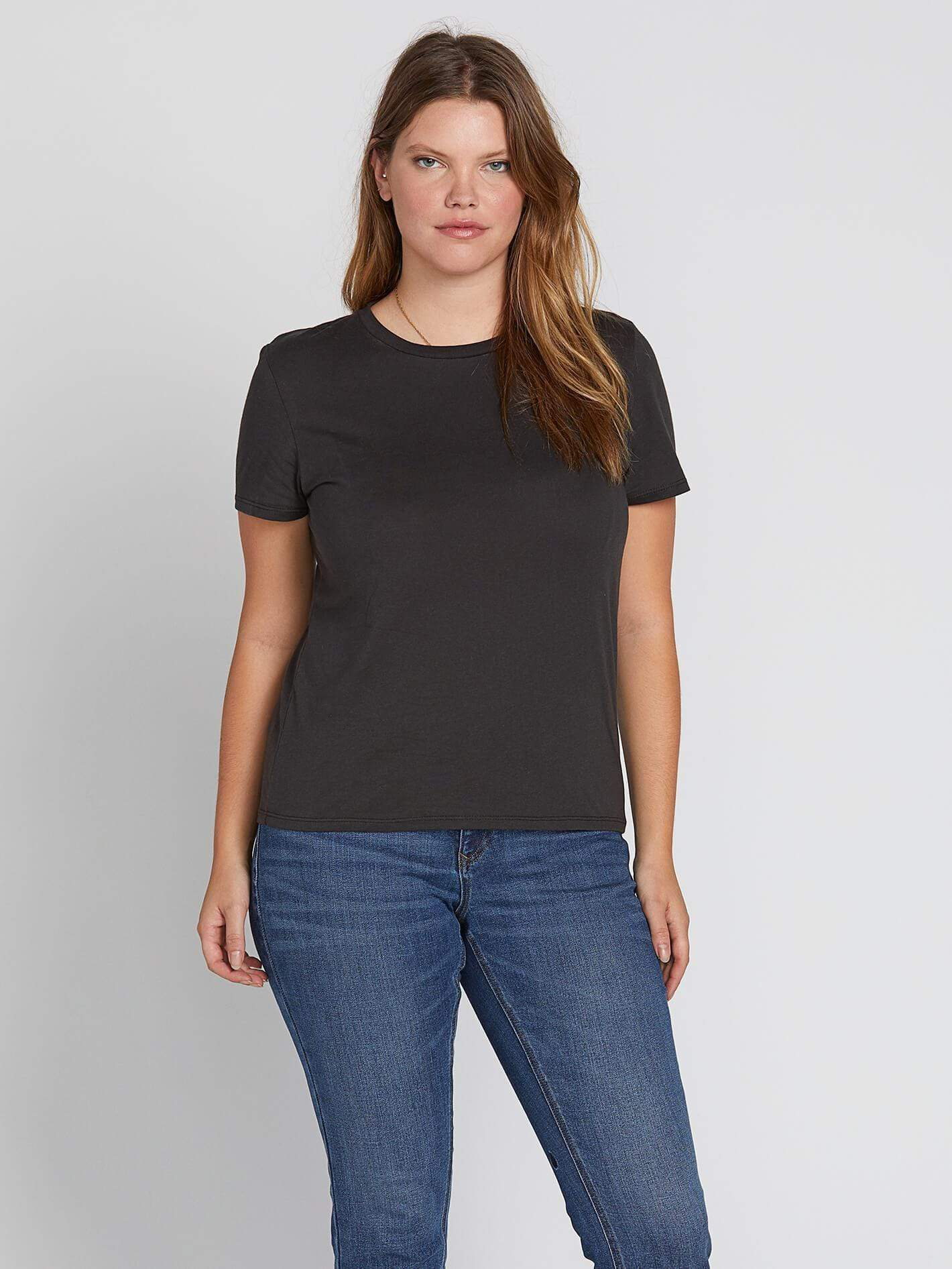 volcom one of each tee shirt in black top size 12w