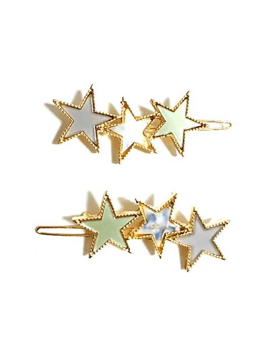 ZHUU Trio Star Barrette Set OS