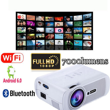 Popular HD 1080P Home Theater LED Android 6.0 WiFi 7000LM Projector Bluetooth 4.0 HDMI