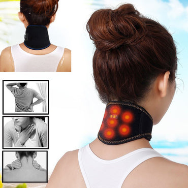 QQ Tourmaline Magnetic Health Therapy Neck Massager Cervical Vertebra Protection Spontaneous Heating Belt Body