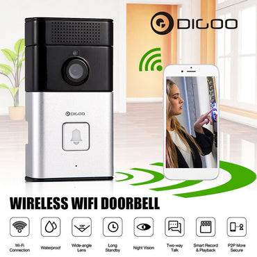 Digoo DoorBell WIFI Wireless Video Camera Viewer Door Phone Ring Bell Alarm Home Security