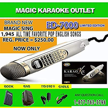 Brand New Magic Sing Karaoke Mic ED-7000 POP 793 BUILT-IN